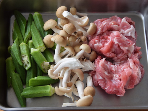 豚肉の梅肉炒