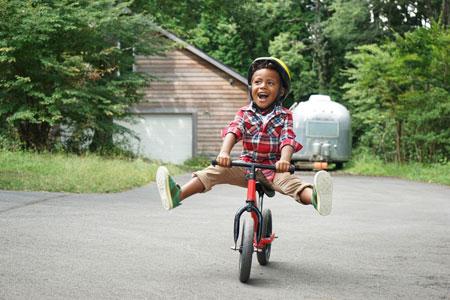 子供に教える自転車の乗り方