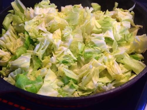 春キャベツの野菜たっぷりパスタ㈫