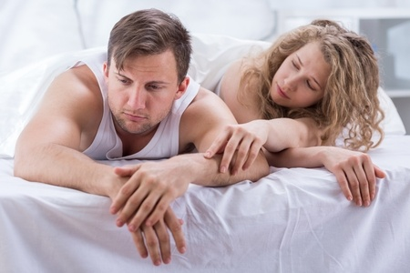 42783511 - photo of attractive wife trying to make up with husband