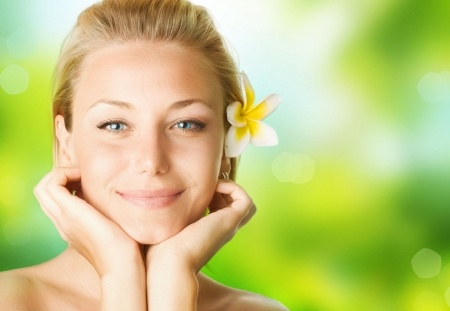 7330020 - spa girl over nature background