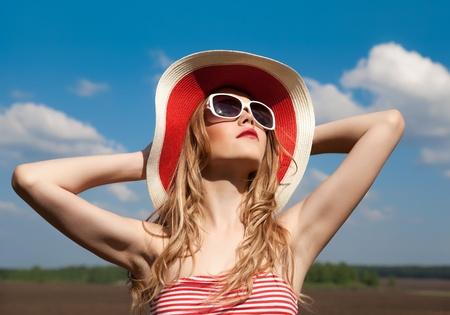 14030024 - portrait of a girl relaxing summer