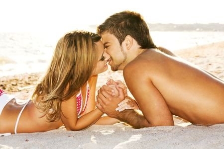 5714834 - romantic couple kissing on the seaside