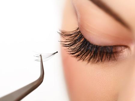 38739359 - woman eye with long eyelashes on eyelash extension