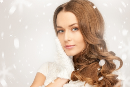 15398410 - picture of beautiful woman in white gloves