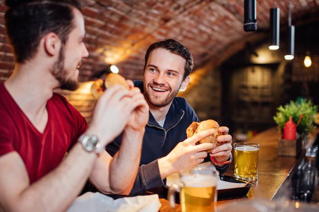 男性同士, 食事, 飲み会,